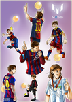 his majestic king Messi by Sandra-delaIglesia