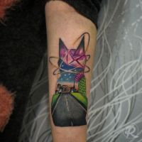 Cat cosmos tattoo by Jairo1official