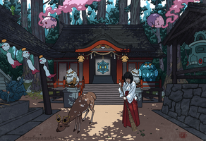 Shinto Shrine by SeanDonnanArt