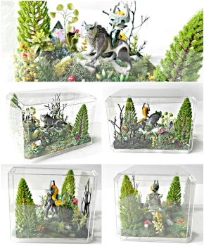 Midna and Link Terrarium by TheVintageRealm
