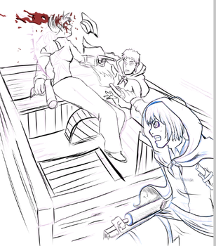 Never Finished : Attack on Titan : Panel Redraw by BiomechanicTitan