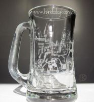 HOGWARTS CASTLE Etched Glass by theartful-dodge