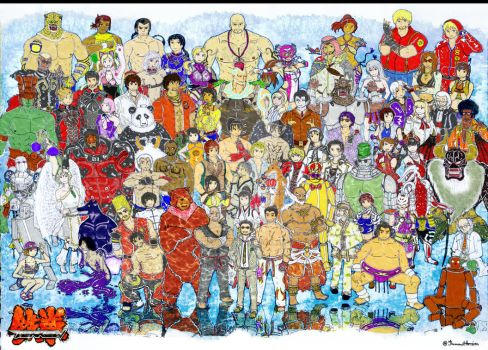 Tekken Characters (Colored) by ThemawtArcsion