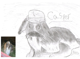Contest entry Casper in agent hat by TossarN