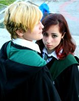 Stare - Draco x Pansy Cosplay by equiclubecastello