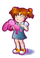 Little girl with bunny by hitomi--i