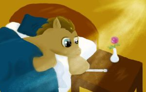 Doctor Whooves waking up (old!) by DragonsAndDreamscape