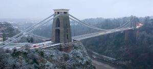 Clifton Suspension in the Snow by Alex37