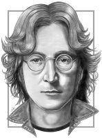 John Lennon Sketch by NicksPencil