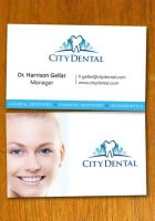 Dentist and Dental Business Card Template by danbradster