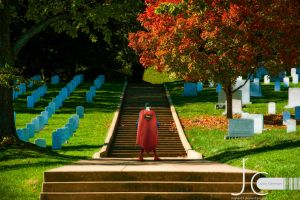 DC Universe - Superman at Arlington Cemetery by Nayias01