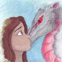 Girl and Dragon by LinmirianJoyrex