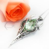 YSILTURN  - silver and green amethyst by LUNARIEEN