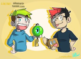 Jack and Mark ( Collab with xOtakuStarx :D ) by IvaTheHuman