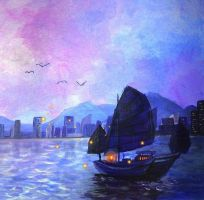 Hong Kong - Evening by hplanii