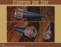 Steampunk Wine Cork by Dabstar