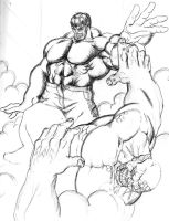Hulk vs Abomination by hulkdaddyg