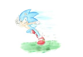 Sonic the Hedgehog_Painting by Ila-Mae