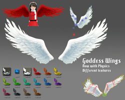 MMD- Goddess Wings.2 -DL by MMDFakewings18