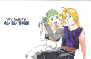 Ed and Winry by Jelly9614