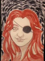 Woman with Eyepatch by squarepupilsherald