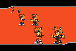 Sprite Off Round 2: Kayla The Hedgehog by Zoren-Sosa