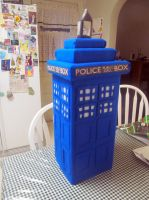 My Home Made TARDIS -view 3 side 3 by Therese-B