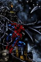 Spidey and Batman - Finch by Pauldew