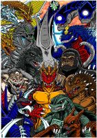 13 Kaiju commission print by kaijuverse