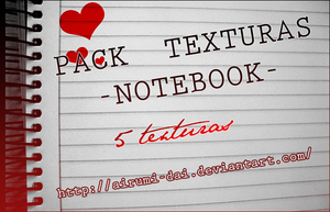 Pack Texturas NoteBook by Airumi-Dai