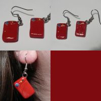 Pokedex Earrings by ChibiSilverWings