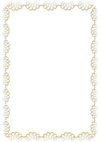 gold swirl frame png by Melissa-tm