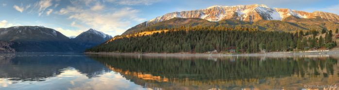 Wallowa Lake Panorama by austinboothphoto