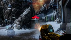 Halo 4 Gold Assault Rifle first person by bulletreaper117