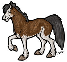 Clydesdale Toony by Little-Moose