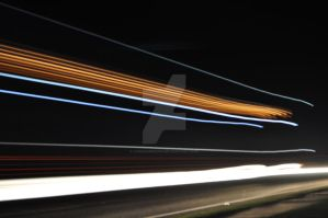 light trails on a1 by andrewmaund
