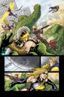 Mighty Avengers issue 10 p 15 by jeaf7