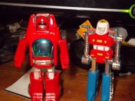 Gobots: turbo and cykill by TMNTFAN85