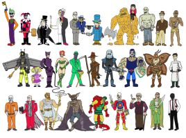 Batman Villains by Blank-mange