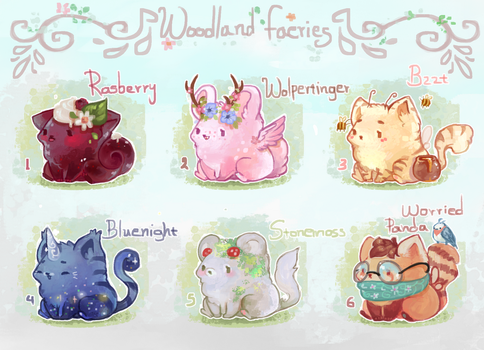 [CLOSED] Woodland faeries friends by miloudee
