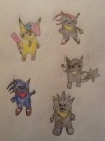 Five New Fusions by CJ-The-Pikachu