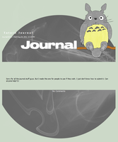 Totoro Journal - free to use by Kittur-puff