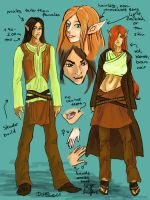 forest elf model sheet -old version- by DarionDamage