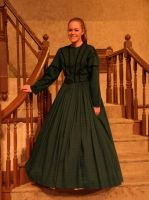 Little Women: Amy green dress by Charis