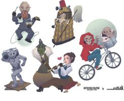 Doctor-who-sticker-set-creature by nak