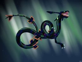 Space Rayquaza by Maidhion