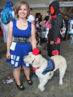 Human Tardis and Canine Doctor Who by jpop52
