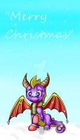 Spyro-Merry Christmas by estefanoida