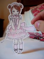 Sweet lolita paper child by thethecoco