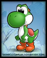 Yoshi - first try by BionicleGahlok
